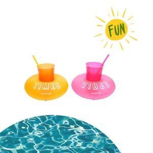 🆕 Inflated Malibu Drink Holder Float Set